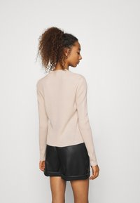 Missguided - LACE UP - Cardigan - beige - 2
