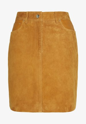 SLFLOVE SUEDE SKIRT - Miniskjørt - bronze brown