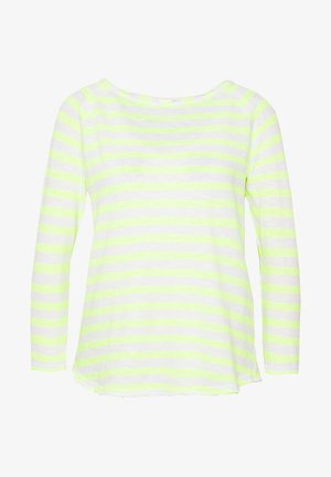 HEAVY LONGSLEEVE STRIPED - Long sleeved top - neon yellow