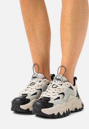 VEGAN TRAIL ONE - Sneaker low - cream/black