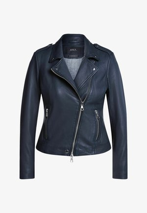THE TYLER - Leather jacket - nightsky
