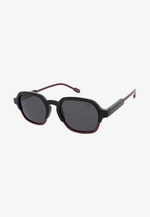 GLENN - Sunglasses - black/burgundy
