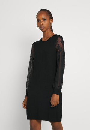 ONLVIKTORIA DRESS - Neulemekko - black