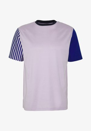 GENTS OVERSIZE STRIPED SLEEVE - T-Shirt print - lila
