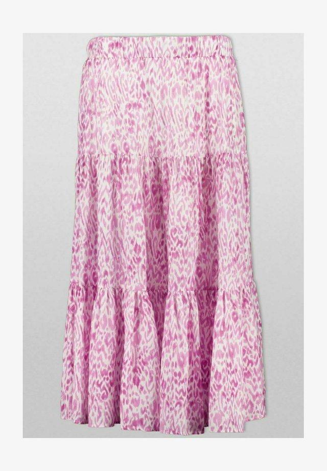 Pleated skirt - pink animal
