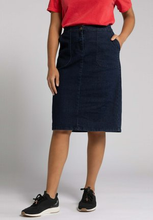 A-line skirt - darkblue denim