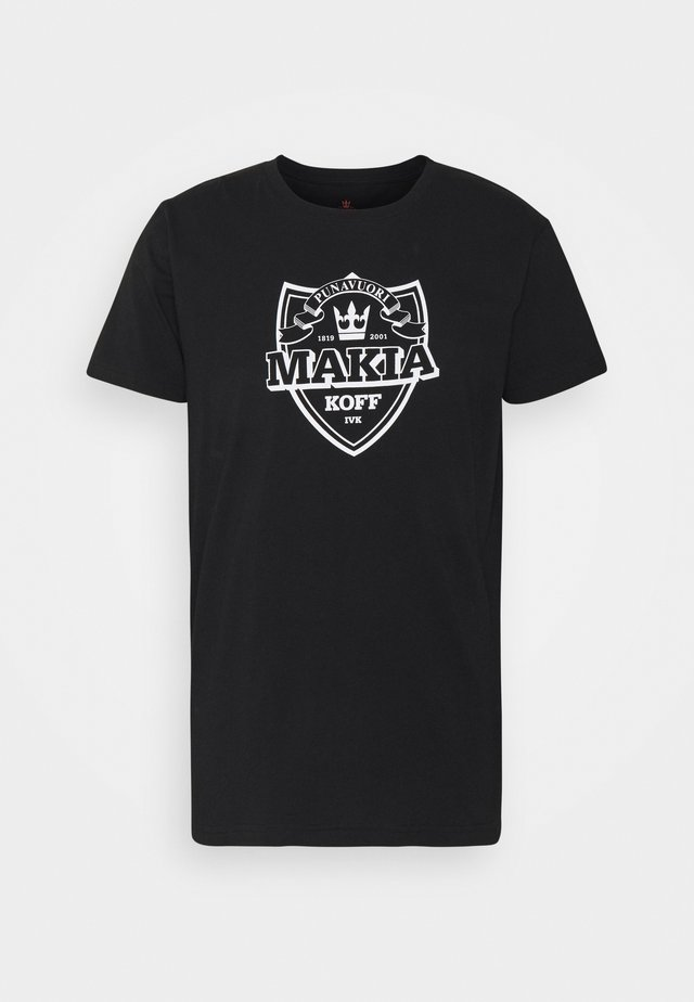SHIELD - T-shirt con stampa - black