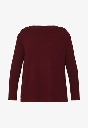 SOFT TOUCH BUTTON NECK - Jumper - berry