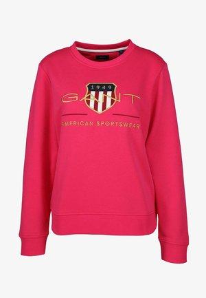 ARCHIVE SHIELD C-NECK , PEACOCK - Sweatshirt - pink