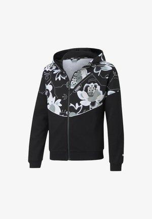 ALPHA - veste en sweat zippée - puma black