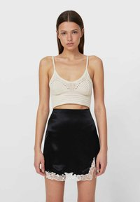 Stradivarius - A-line skirt - black - 0