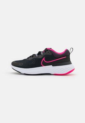 REACT MILER 2 - Zapatillas de running neutras - black/hyper pink/cave purple
