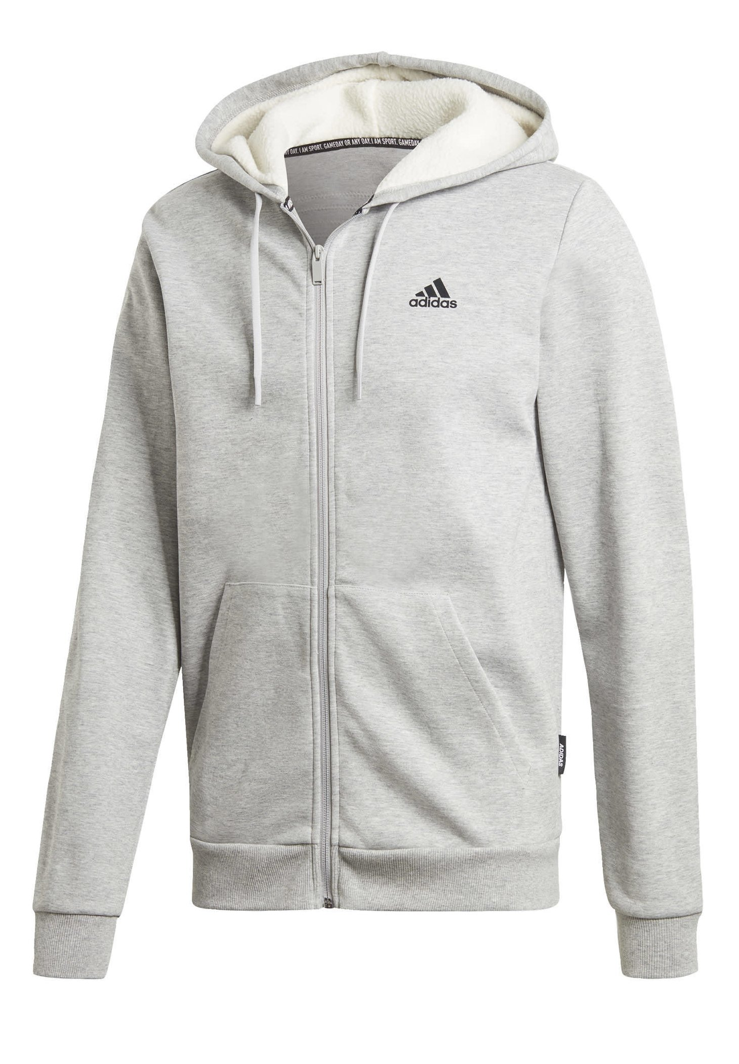 WINTER 3 STRIPES FULL ZIP HOODIE Sweatjacke grey