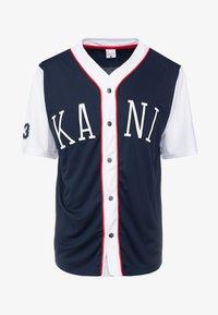Karl Kani - COLLEGE BASEBALL SHIRT - Shirt - navy/white/red - 4