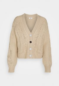 JDY - JDYJULIA CABLE CARDIGAN - Gilet - cement - 0