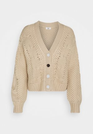 JDYJULIA CABLE CARDIGAN - Strickjacke - cement