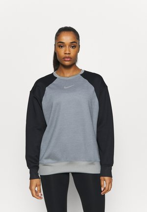 Fleece trui - particle grey/black