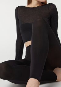Calzedonia - BLICKDICHTE SOFT TOUCH TOTAL COMFORT LEGGINGS - Tights - black - 2