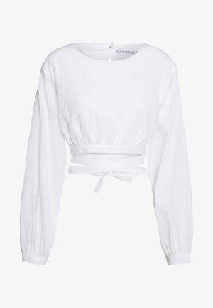 CLOUD WRAP UP BLOUSE - Pusero - white