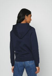 Tommy Jeans - REGULAR HOODIE ZIP THROUGH - Zip-up hoodie - twilight navy