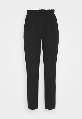 PAPERBAG WAIST SMART CASUAL TROUSERS - Trousers - black