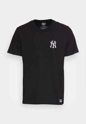 NEW YORK YANKEES SOUTHSIDE TEE - T-shirt z nadrukiem - jet black