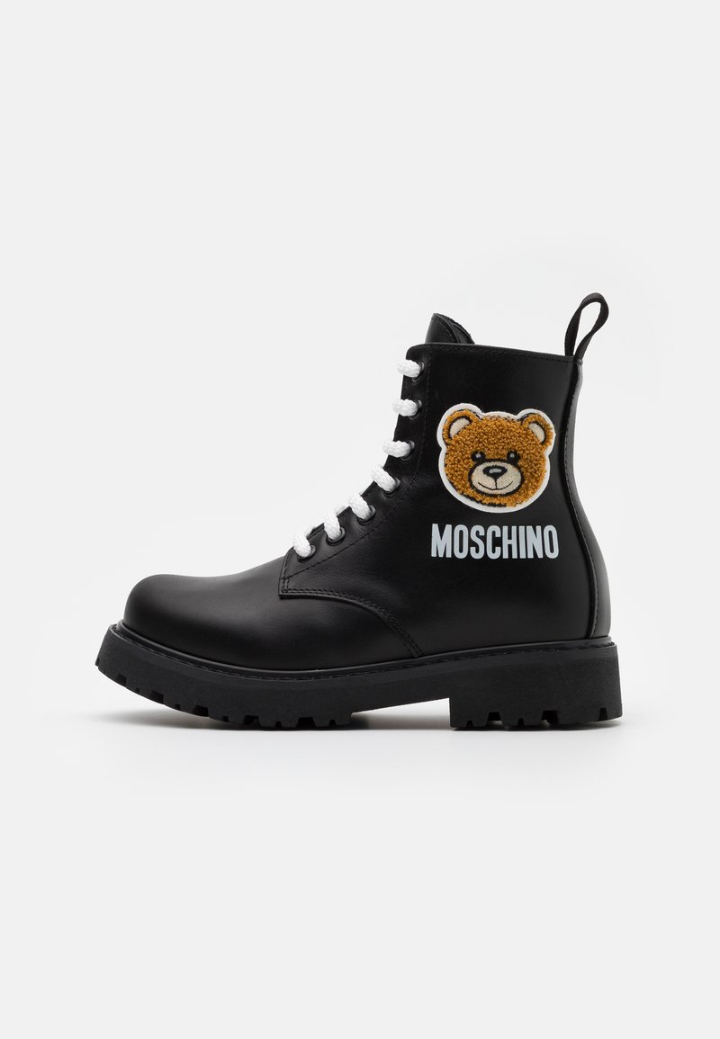 MOSCHINO - Lace-up ankle boots - black