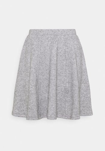 Flared mini knitted skirt