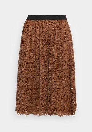 SKIRT SHORT - A-line skirt - walnut