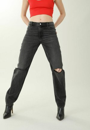 Relaxed fit jeans - schwarz