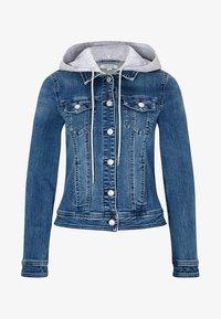 comma casual identity - MIT ABNEHMBARER KAPUZE - Denim jacket - blue - 4