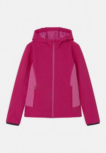 FIX HOOD - Soft shell jacket - geraneo/malva