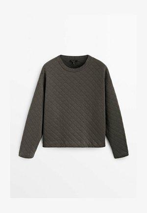 GESTEPPTES AUS BAUMWOLLE - Sweatshirt - dark grey