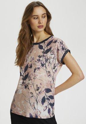 Camiseta estampada - rosa leaf/sky print