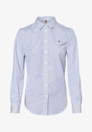 ALEXIS REGULAR - Button-down blouse - weiß blau