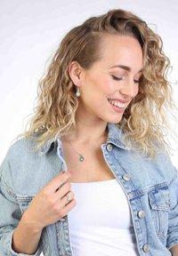 Lucardi - Ring - zilverkleurig/turquoise - 0