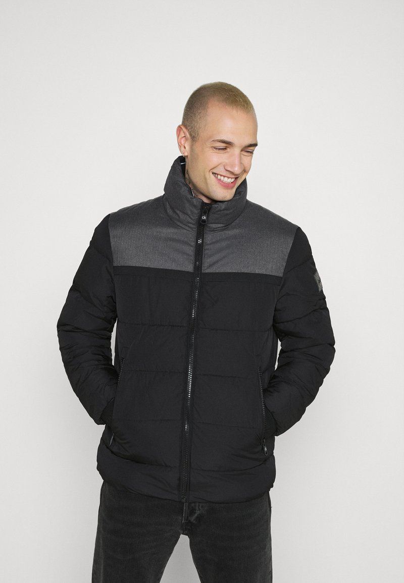 Calvin Klein - OPTIC MIX JACKET - Winter jacket - grey