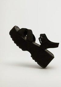 Mango - SPICY - Platform sandals - schwarz - 3