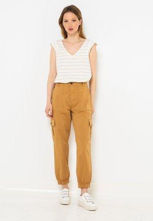 Pantalon cargo - taupe