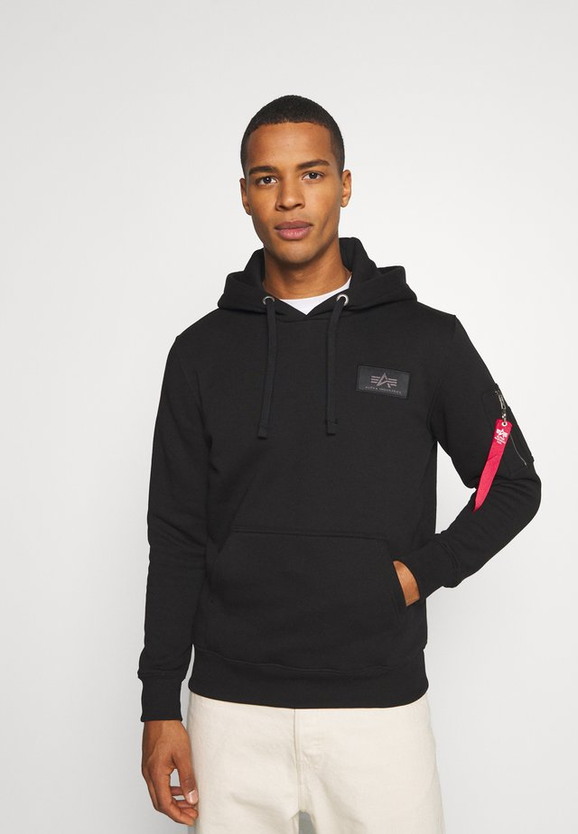 BACK PRINT HOODY RAINBOW PRINT - Sweatshirt - black