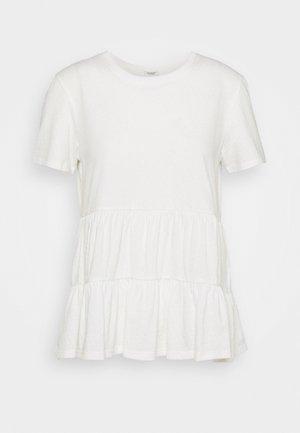 JDYSELMA LIFE LAYERED - Print T-shirt - cloud dancer