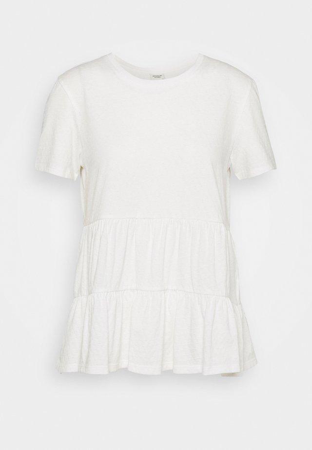 JDYSELMA LIFE LAYERED - T-shirts print - cloud dancer