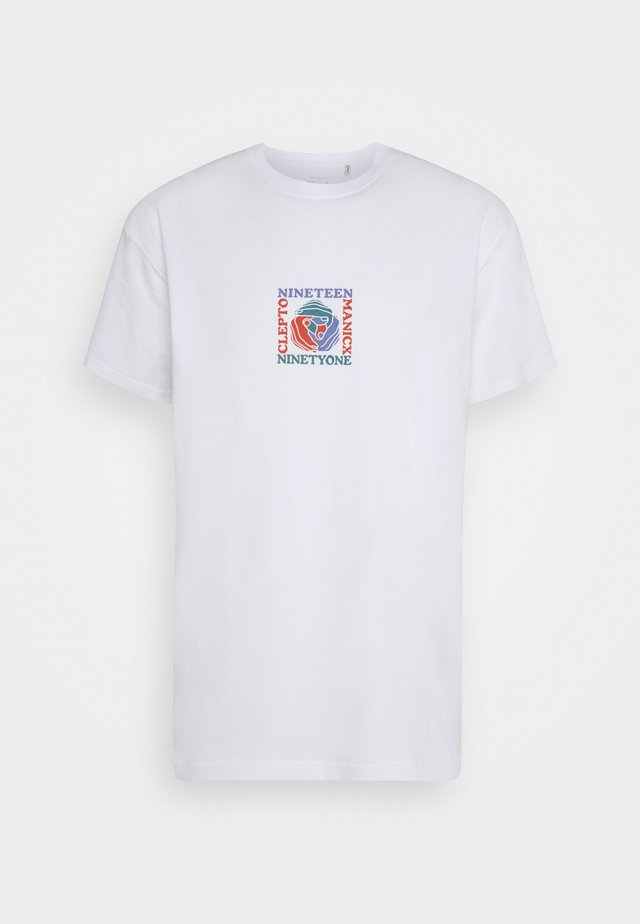 HANDS IN THE BACK - T-shirts med print - white