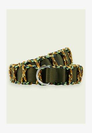 MILITARY-STYLE - Braided belt - green