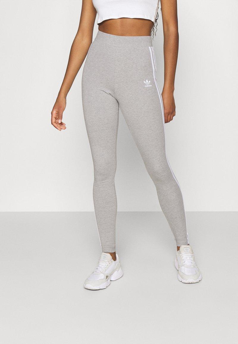 adidas Originals - STRIPES COMPRESSION - Leggings - Trousers - medium grey heather
