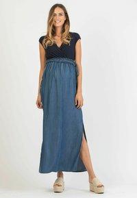 Attesa Maternity - GAIA - Maxi dress - blue - 0