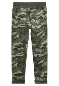 Next - GREY RIB WAIST PULL-ON TROUSERS (3-16YRS) - Tracksuit bottoms - green - 1