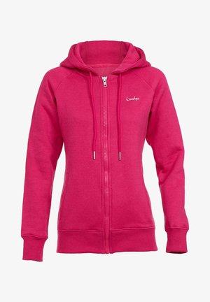 Zip-up hoodie - deep pink