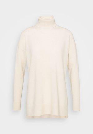 GALA ROLL NECK - Strikpullover /Striktrøjer - chalk white