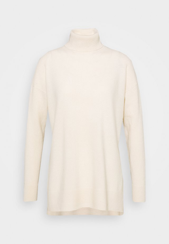 GALA ROLL NECK - Neule - chalk white